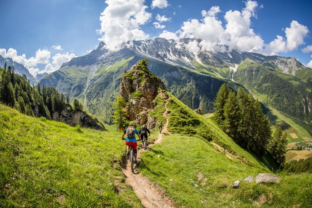 Alps mountain biking photography