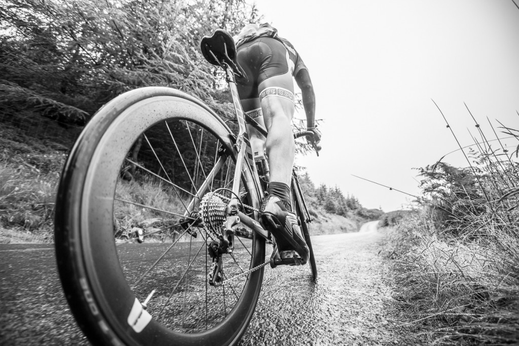Huw Thomas during the Monster sportive.