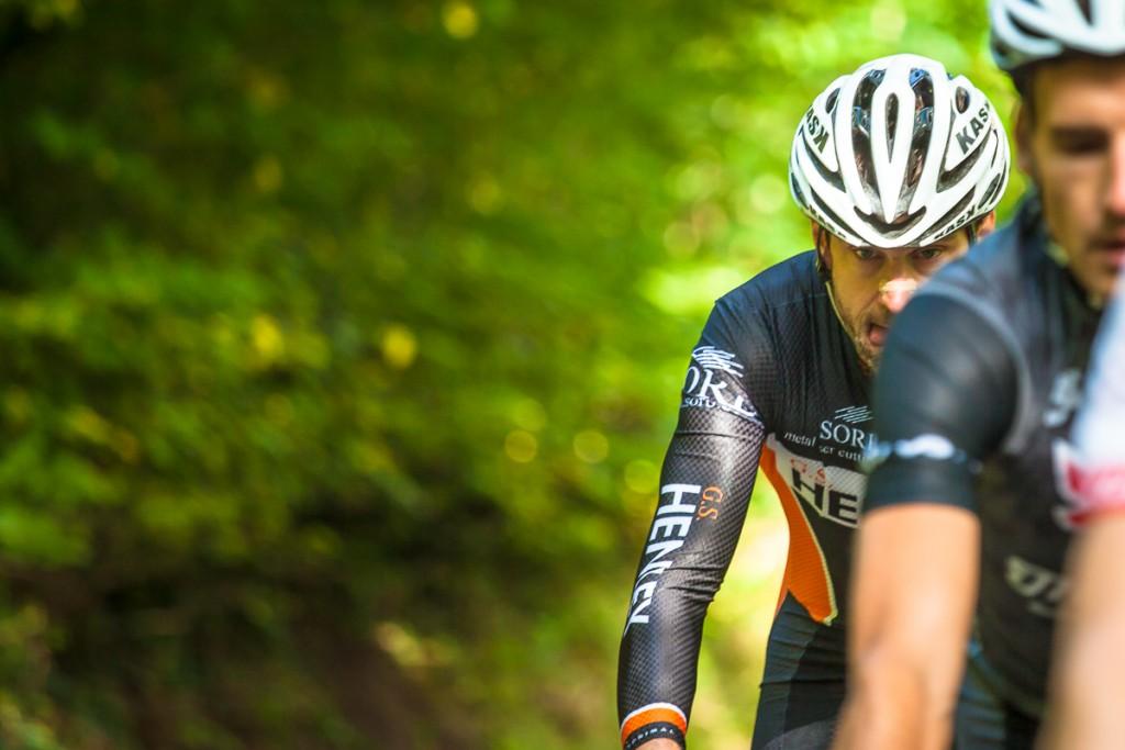 Hill climb cycling photography