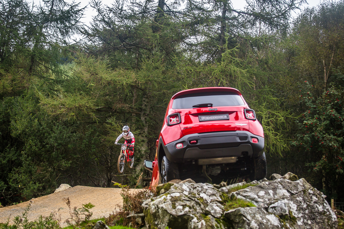 jeep renegade at the redbull hardline